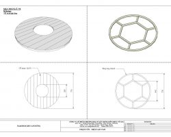 Mặt bàn gỗ nhựa tròn