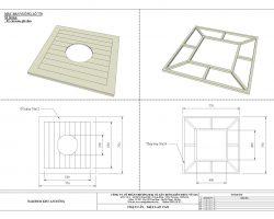 Mặt bàn gỗ nhựa vuông