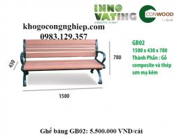 Ghế gỗ nhựa ngoài trời GB02