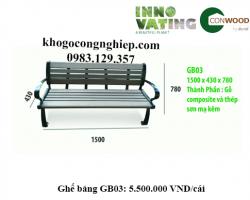 Ghế gỗ nhựa ngoài trời GB03