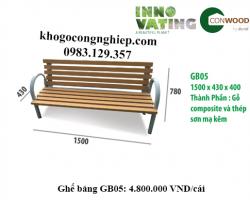 Ghế gỗ nhựa ngoài trời GB05