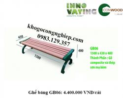 Ghế gỗ nhựa ngoài trời GB06